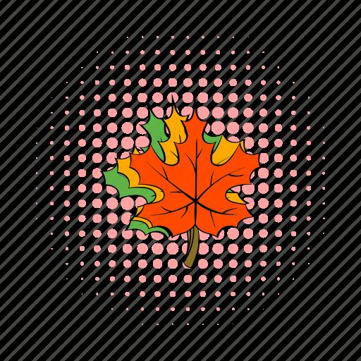 canada, comics, fall, leaf, maple, nature, red icon