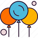 air, balloon, fly icon