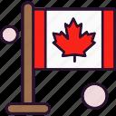 autumn, canada, flag, leaf, maple