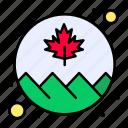 canada, circle, flag, leaf