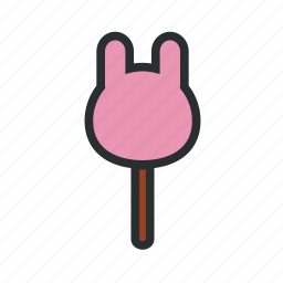 confectionary, cute candy, lollipop, rabbit candy icon
