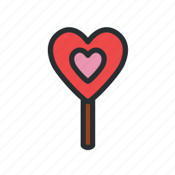 candy, heart shaped candy, valentine's day candy icon