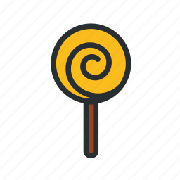 confectionery, lollipop, sweet, swirly candy icon