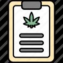 clipboard, document, paper, cannabis, cannabidiol, cbd