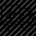 truck, delivery, marijuana, cannabidiol, shipping, logistics