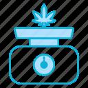 scale, weight, cannabis, cannabidiol, marijuana, weed, leaf