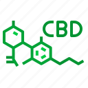 cbd, chemical, education, molecules, science icon
