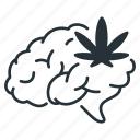 brain, cbd, drugs, impaired, intoxicated, marijuana, thc icon