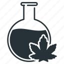 cannabidiol, extraction, bottle, cannabis, extract, marijuana, weed icon