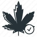 passed, cannabis, leaf, okay, pot, smoking, weed icon