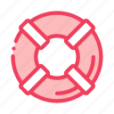 canoeing, help, lifebuoy, support icon