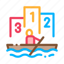 boat, canoeing, competition, rowing icon