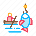 boat, canoeing, fishing, ship icon