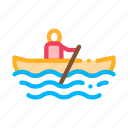 boat, canoeing, rowing, sea icon