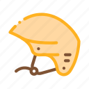 boat, canoeing, helmet, travel icon