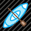 canoeing, kayak, ocean, sea icon