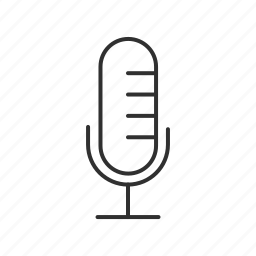 mic, microphone, old microphone, podcast mic, recording mic, recording microphone icon