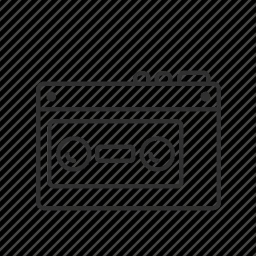 casette, casette tape, tape, tape player, tape recorder, walkman icon