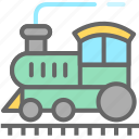 convey, haul, ship, train, transport, vehicle icon