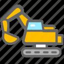 construction vehicle, excavator, navvy icon