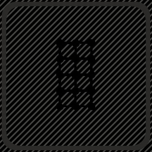 grid, structure, transform, vertical icon