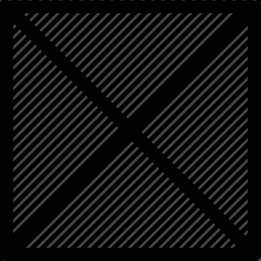 cancel, cross, off, square, x icon