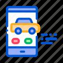 car, de, mobile, phone, screen, technology