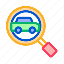 car, map, search icon