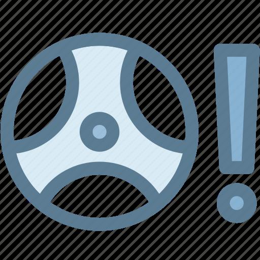 car, dashboard, drive, engine, indicator, power steering warning, road icon