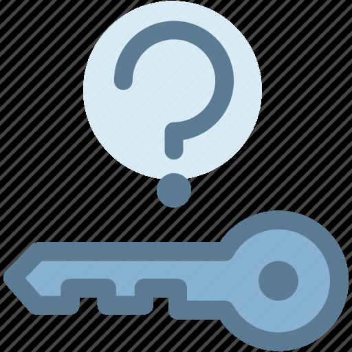 key not in vechicle, missing, open, question, secure, sensor, unlock icon