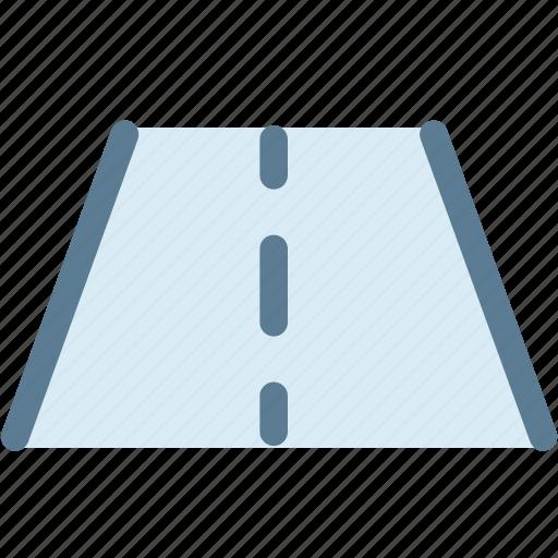 car, dashboard, drive, engine, lane, lane departure warning, road icon