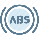 abs, alert, automobile, automotive, automotive vehicle, braking, car icon