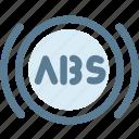 abs, alert, automobile, automotive, automotive vehicle, braking, car icon