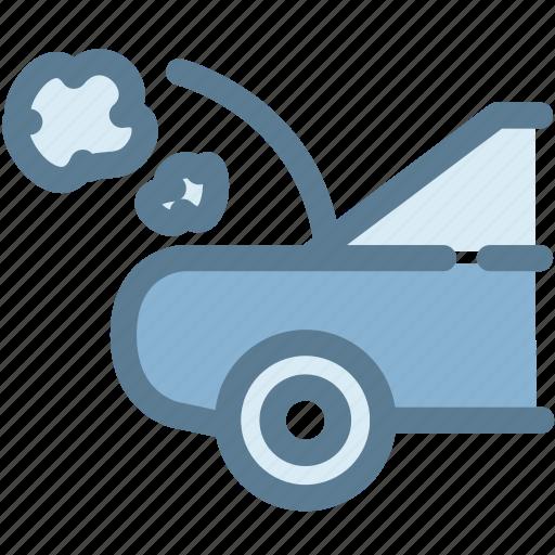 break, car, car breakdown, dashboard, down, engine icon