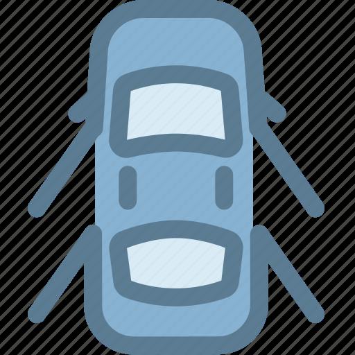 car, dashboard, doors, doors open, engine, open icon
