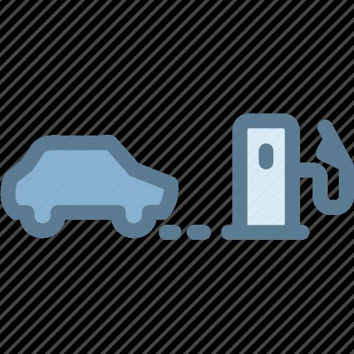 car, dashboard, indicator, light, low fuel warning, vehicle, warning icon