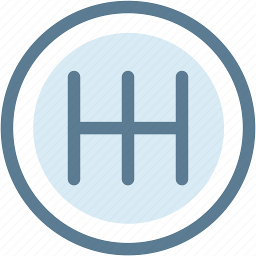 automotive vehicle, car, dashboard, drive, engine, gear, manual icon