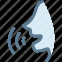 car, engine, interface, siri, sound, speak, voice command icon