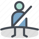 belt, car, dashboard, safety, seat, seat belt not on, security icon