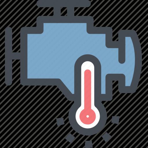car, dashboard, engine, engine temperature, heat, hot, measure icon