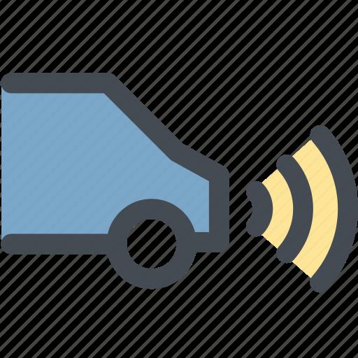 car, engine, parking, parking radar, radar, range, signal icon