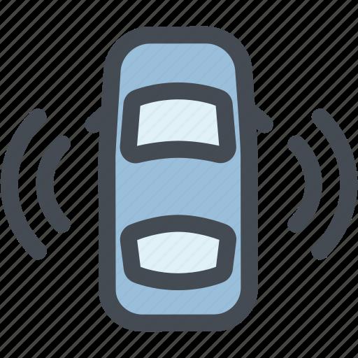 car sensor data, dashboard, engine, reading, self drive, self driving, sensors icon