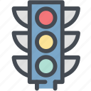 dashboard, engine, road, stop, street, street sign, traffic light icon