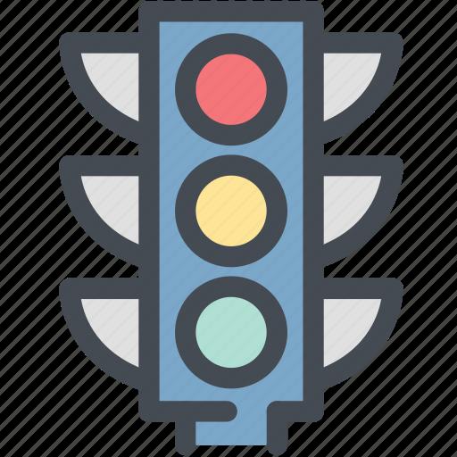 dashboard, engine, road, stop, street, street sign, traffic light icon