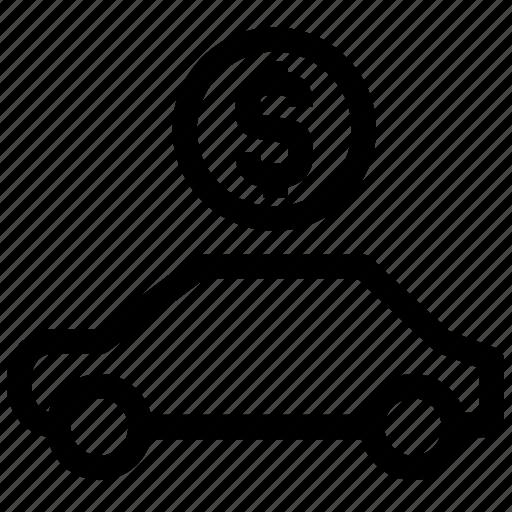 car for sale, dashboard, dollar, engine, money, rental car, retail icon