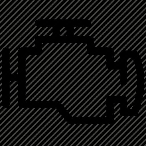 automotive, car, car engine, dashboard, engine, vehicle engine icon