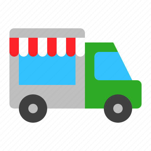 car, food truck, transport, travel, truck, vehicle icon