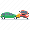 car accident, car crash, road accident, vehicle collision, vehicle mishap icon