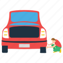 auto repairman, car mechanic, collision repair, mechanic, workshop worker