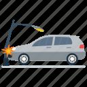 car accident, car breakdown, car crash, road accident, vehicle collision, vehicle mishap icon